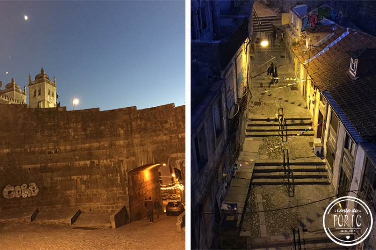 baixa porto portugal noite
