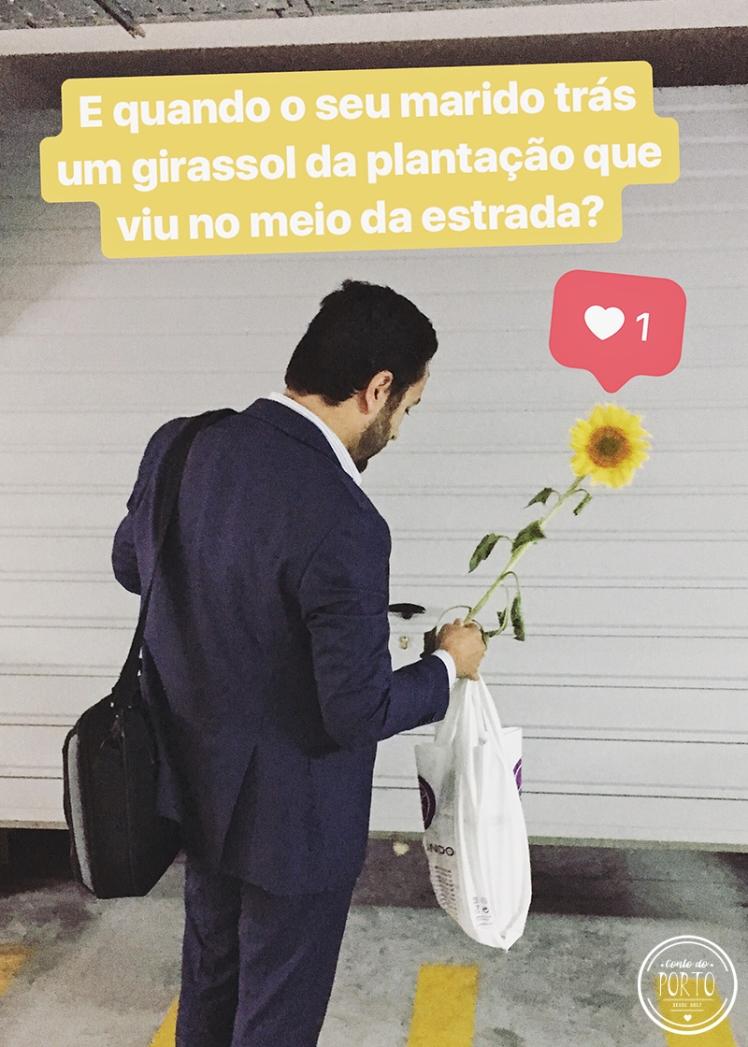 marido romantico girassol